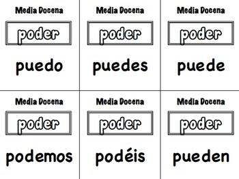 12 Spanish Verb Form Activities for Small Groups (Half Dozen, Media Docena)