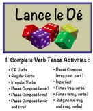 11 French Verb Form Speaking Activities with Dice for Small Groups