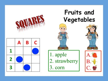 12 Fruit and Vegetable Vocabulary Puzzles; Stations, Cente