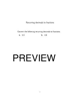 12 GCSE/IGCSE Math Worksheets bundle