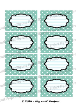 12 GIFT LABELS Printable- Polka dots - Instant Download - 3 inches X 2,5 inches