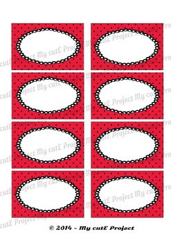 12 GIFT LABELS Printable- Polka dots V2- Party Printables -3 inches X 2,5 inches
