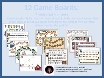 12 Game Boards