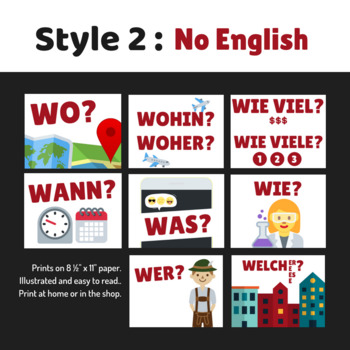 12 German Question Word Posters