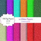 12 Glitter Digital Papers