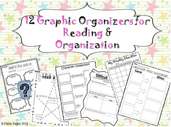 12 Graphic Organizers for Reading, Writing and Organization