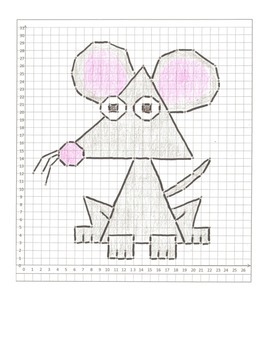 Coordinate Graphing Animals Cartoon Packet  #2!  12 Animals, All in quadrant one