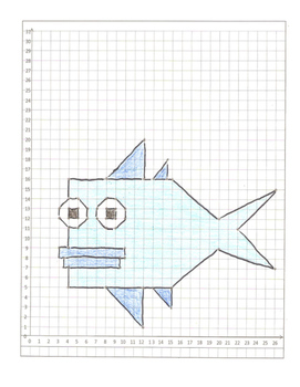 Coordinate Graphing Animals Cartoon Packet!  All in quadrant one