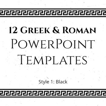 12 greek and roman powerpoint templates black tpt
