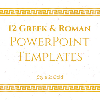 12 greek and roman powerpoint templates gold tpt