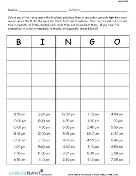 12 HOUR, 24 HOUR ACTIVITY PACK (SPANISH)