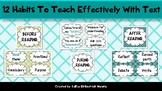 12 Habits to Teach Effectively With Text