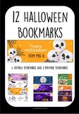 12 Halloween Bookmarks 4 Editable and 8 Premade Holiday St