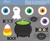 12 Halloween clip arts and 5 Halloween digital scrap paper