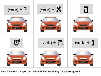 12 Hebrew Prefix Flashcards