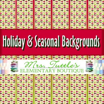 12 Holiday & Seasonal Digital Papers