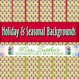 12 Holiday & Seasonal Digital Papers