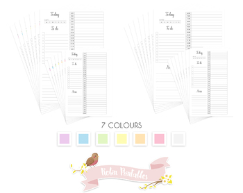 12 Hour Daily Schedule Plan Printable Planner Insert