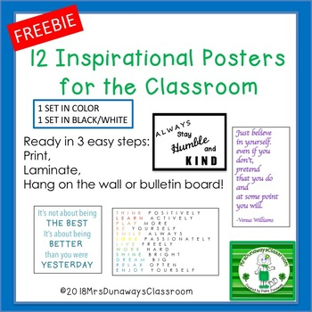 12 INSPIRATIONAL POSTERS FOR THE CLASSROOM