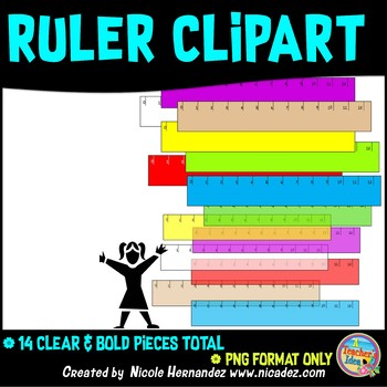 12 Inch Rulers Clip Art in Clear and Bold