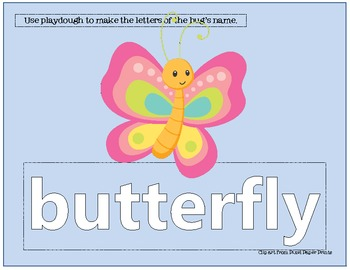 12 Insect Themed Playdough Mats