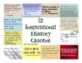 12 Inspirational History Quotes