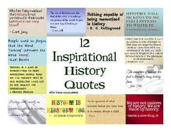 12 Inspirational History Quotes by The Teacher Couple | TpT