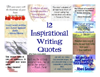 12 Inspirational Quotes for Writing