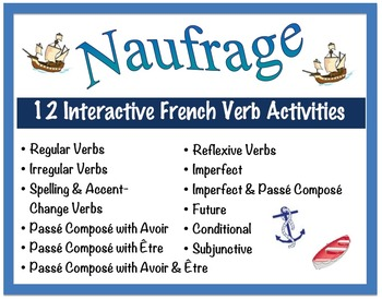 12 Interactive French Verb Form Activities for Pairs or Sm