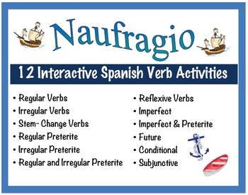 12 Interactive Spanish Verb Form Activities for Pairs or S