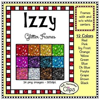 12 Izzy Glitter Frames