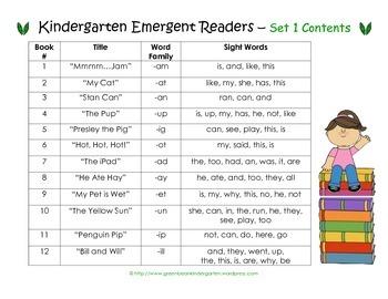 12 Kindergarten Sight Word Printable Books - from Green ...