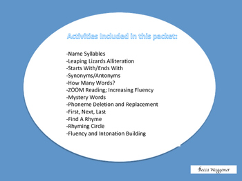 Literacy Transition Activities- FREE Download