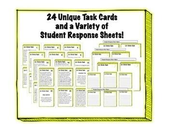 24 Literature Circle Task Cards - Any Novel or Story - Critical Thinking Skills