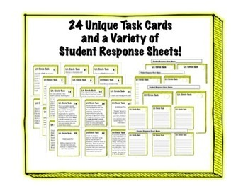 24 Literature Circle Task Cards - Any Novel or Story - Cri