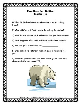 #12 Magic Tree House- Polar Bears Past Bedtime Novel Study Activities