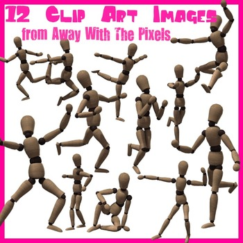 12 Mannequin Clip Art Images - High Quality Clipart for Teachers