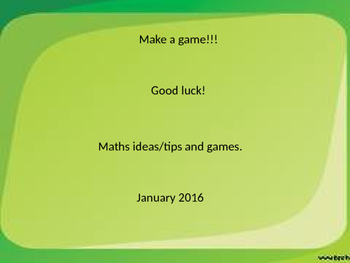 12 Maths Game ideas
