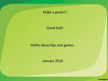 12 Maths Game ideas