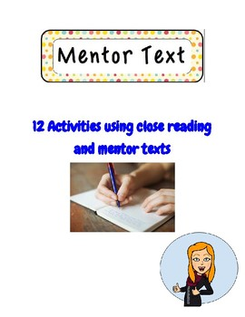 12 Mentor texts for Creative Writing