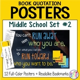 12 Middle School Book Quotation Posters & Readalike Bookmarks (Set #2)