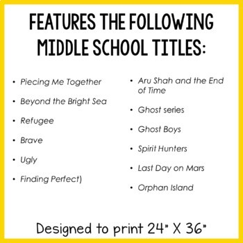 Book Quotes Posters: Middle School (Set #2)