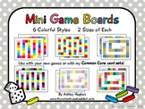 12 Mini Game Boards {Colorful}