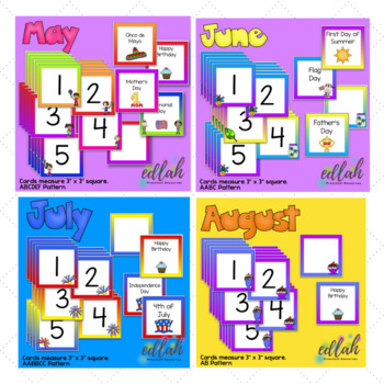 12 Month BUNDLED Set of Themed Calendar Pieces