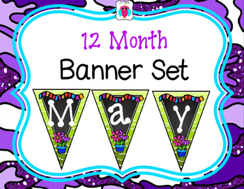 12 Month Banner Set