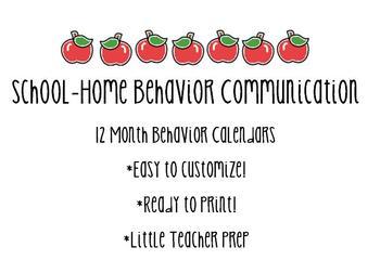 12 Month Behavior Clip Chart Calendars