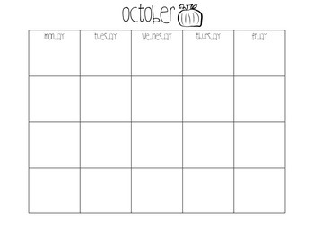 12 Month Black and White Calendar