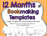12 Month Bookmaking Templates with Sequence Prompts