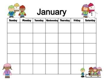 Classroom Themed 12 Month Calendar