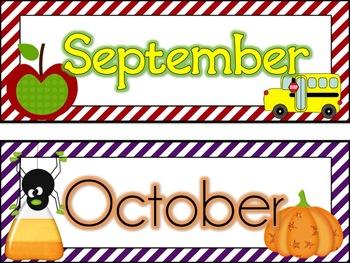 12 Month Calendar Headers